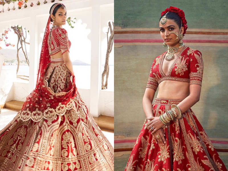 Fashion escapism: Best red lehengas to bookmark for your wedding