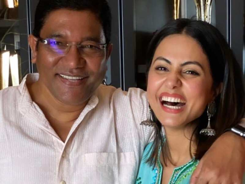 Hina Khan shares fond memories with her late father through these photos; says, 'My dear daddy, I miss you'