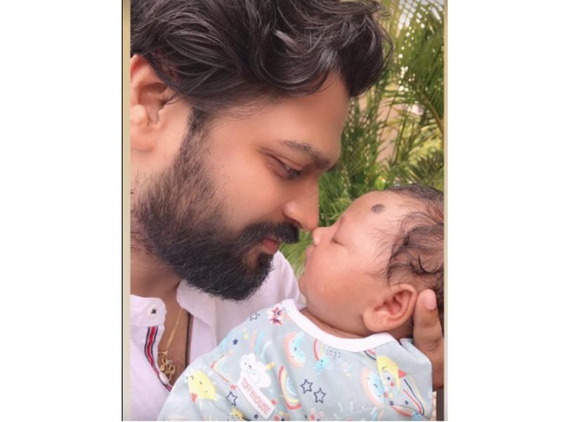 Cuteness alert! Seema Singh shares a photo of her husband Saurav Kumar and their baby