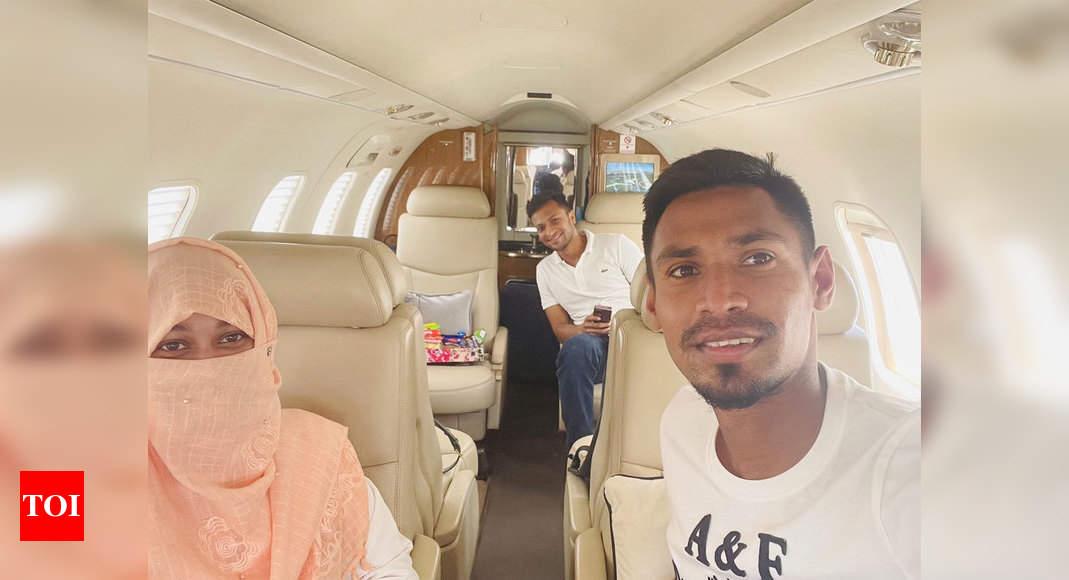 Bangladesh's IPL players Shakib Al Hasan, Mustafizur Rahaman return to Dhaka | Cricket News – Times of India