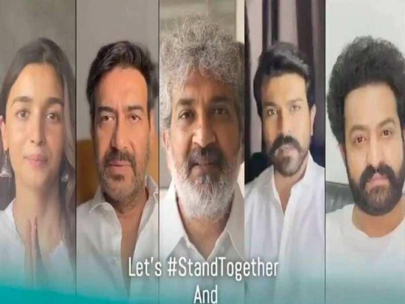 Rajamouli, Ram Charan, Jr NTR, Alia Bhatt and Ajay Devgn release COVID awareness video