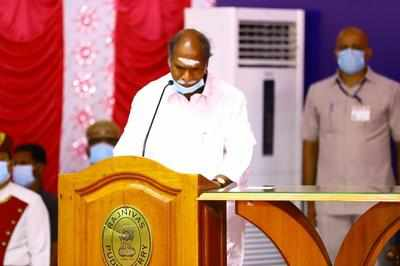 N Rangasamy Takes Oath As Puducherry Cm   Puducherry News - Times Of India