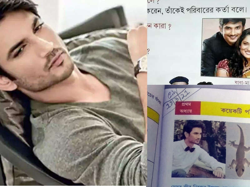 Another rich tribute paid to late Sushant Singh Rajput, fans get emotional after seeing SSR's picture featured on a school textbook