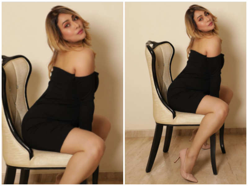 Pakkhi Hegde looks drop-dead gorgeous in her stylish black outfit