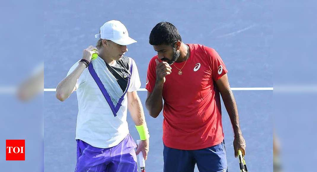Rohan Bopanna-Denis Shapovalov go down fighting in Madrid Open quarters | Tennis News – Times of India