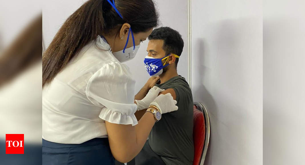 Ajinkya Rahane gets first dose of COVID-19 vaccine | Off the field News – Times of India