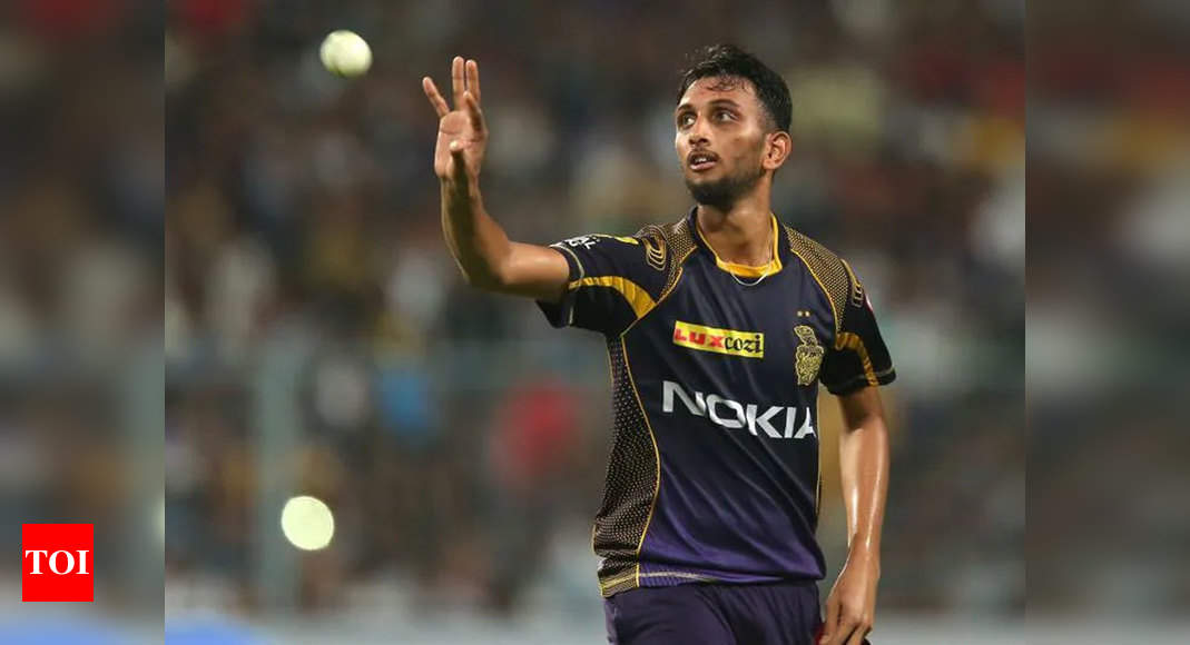 KKR pacer Prasidh Krishna tests positive for COVID-19 | Cricket News – Times of India