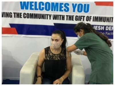 Preity receives 2nd dose of Covid-19 vaccine
