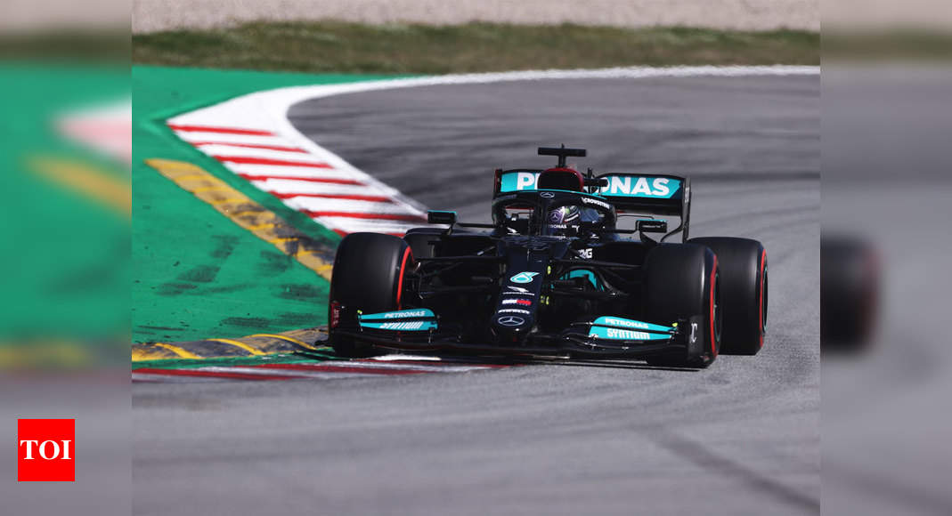 Lewis Hamilton claims 100th pole in qualifying for Spanish Grand Prix | Racing News – Times of India