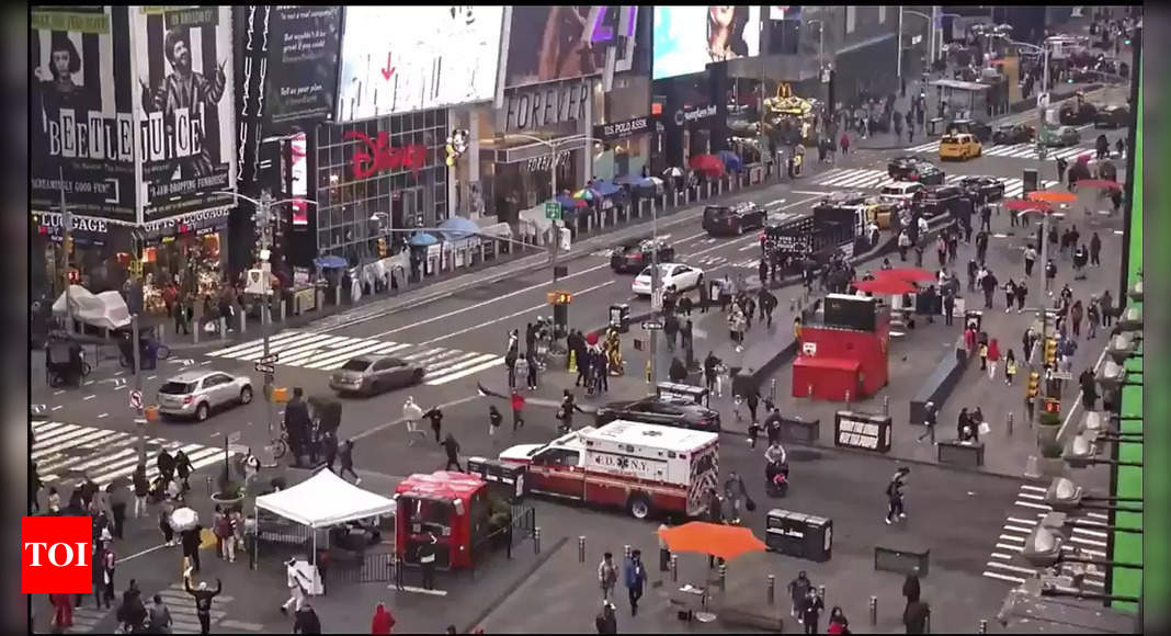 New York Times Square shooting leaves three injured, including a child - Times of India