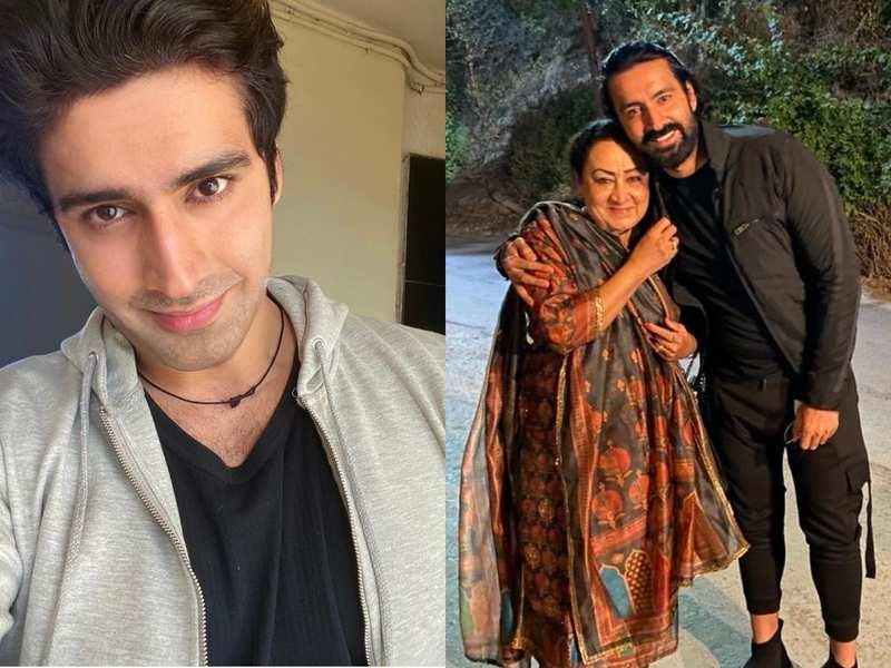 Karan Nath with his mother Reema Rakesh Nath, writer of films like 'Saajan', 'Aarzoo' and 'Hum Tumhare Hain Sanam.'