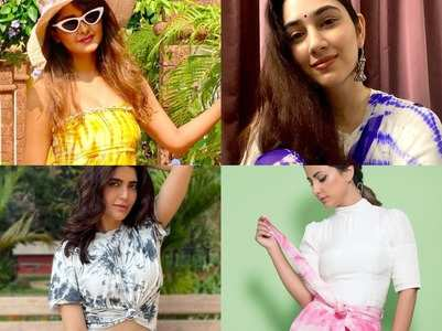 IN PICS: TV Celebs opt for tie-dye outfits