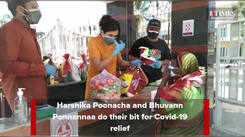 Bhuvann Ponnannaa and Harshika Poonacha join hands to help with Covid relief
