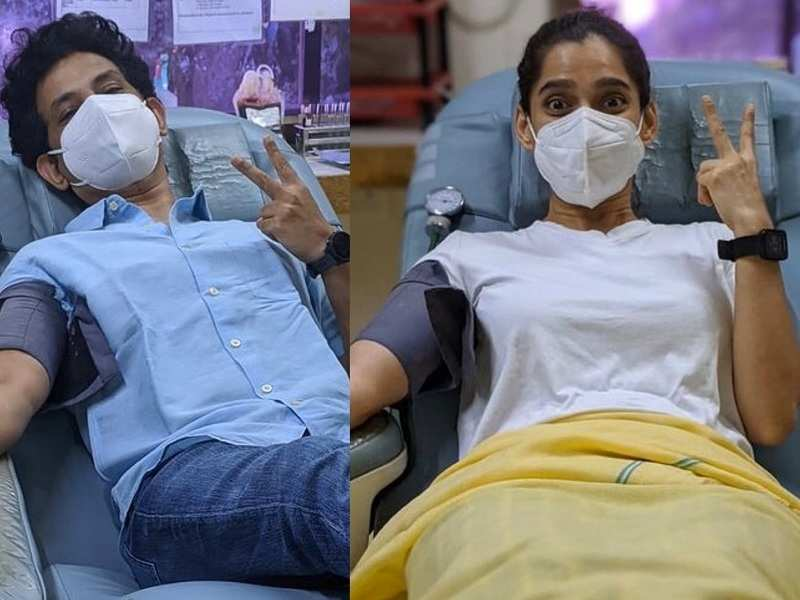 Priya Bapat and Umesh Kamat donate blood, post their COVID recovery