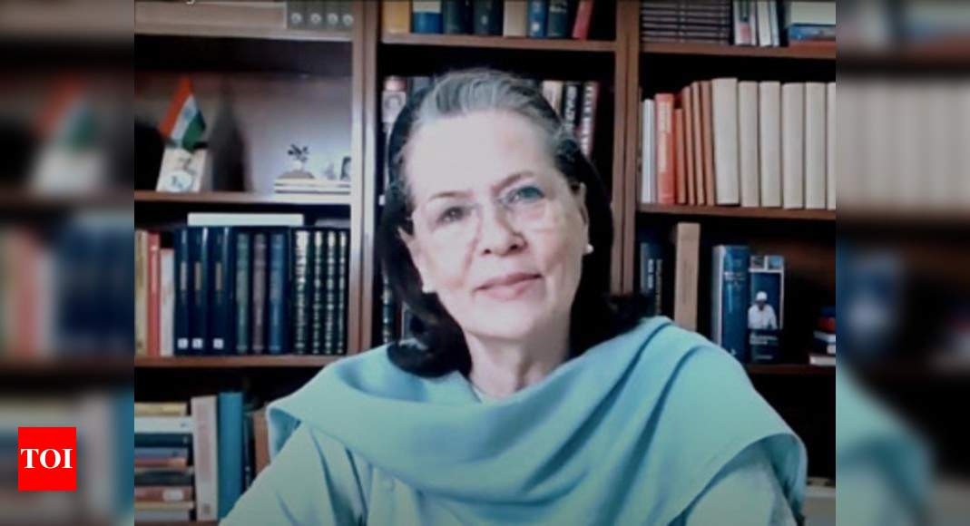 Sonia's CWC speech audible at apex court's Covid e-hearing   India News – Times of India