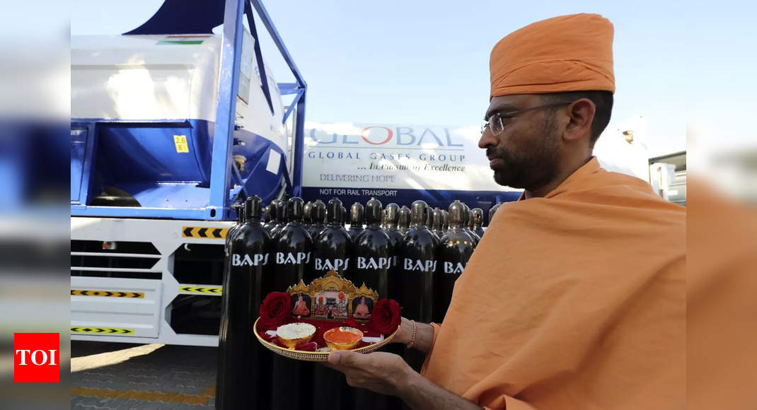 Covid-19: Hindu temple in UAE ships oxygen aid to crisis-hit India – Times of India