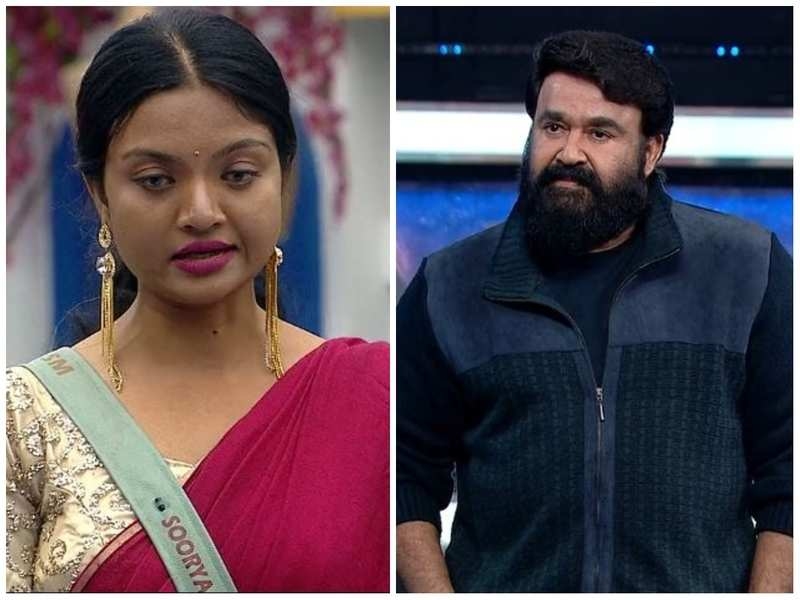 """Bigg Boss Malayalam 3: Host Mohanlal questions Soorya about her request to quit the show; the latter said, """"I feel like giving up"""""""