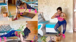 Sakshi Agarwal introduces home workouts using flower pots