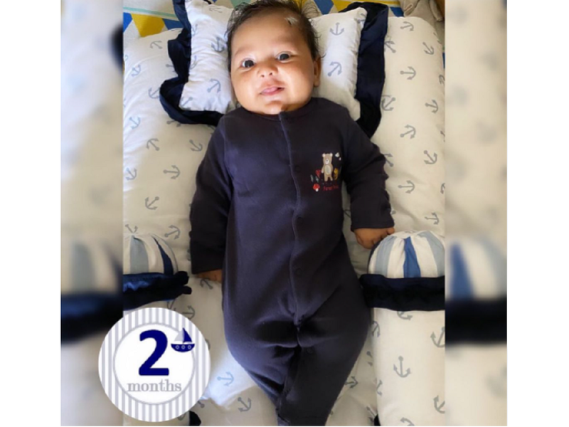 Seema Singh shares a cute picture of her baby Shivay as he completed two months