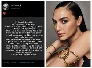 Gal Gadot under fire for calling an end to Israel-Palestine conflict; fans defend actress's appeal for 'peace'