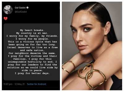 Gal slammed for Israel-Palestine post