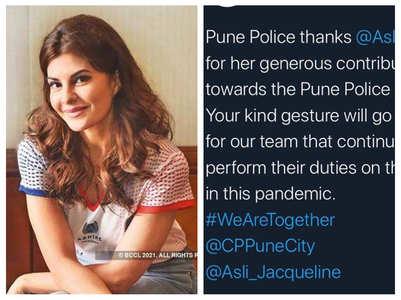 Pune Police thanks Jacqueline Fernandez