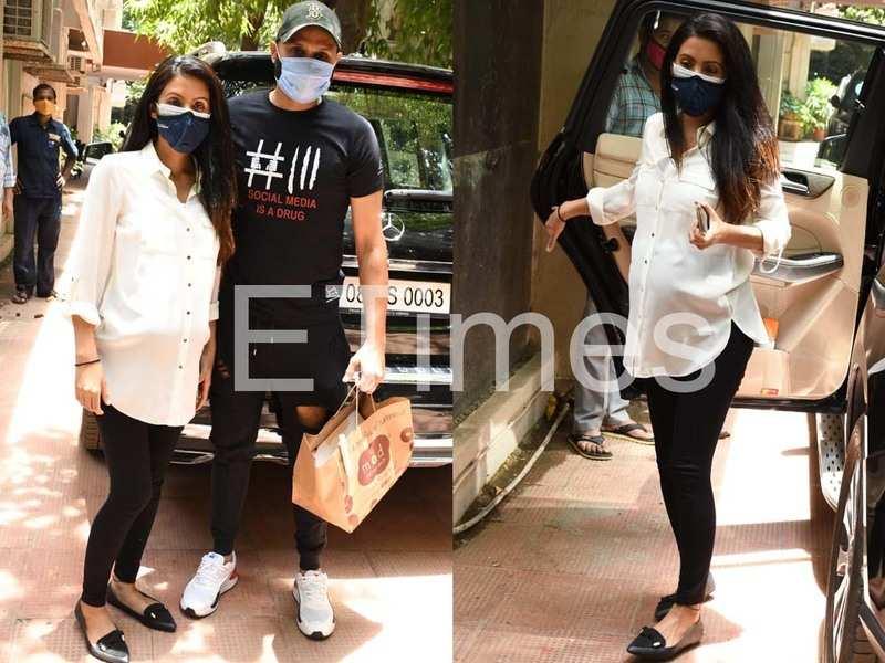 Mom-to-be Geeta Basra steps out with husband Harbhajan Singh