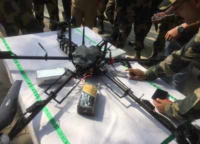 J&K: BSF recovers AK-47, ammunition dropped by drone at international border | India News