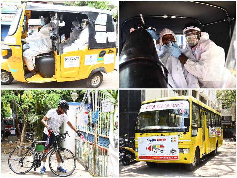 Oxygen to essentials: Vehicle-led assistance aids in the fight against COVID-19 in namma Chennai