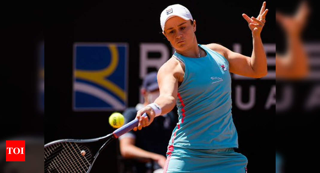 World No.1 Ash Barty retires injured in Rome, two weeks from Roland Garros   Tennis News – Times of India