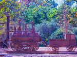 Sculptures made of waste installed at Netaji Subhash Park