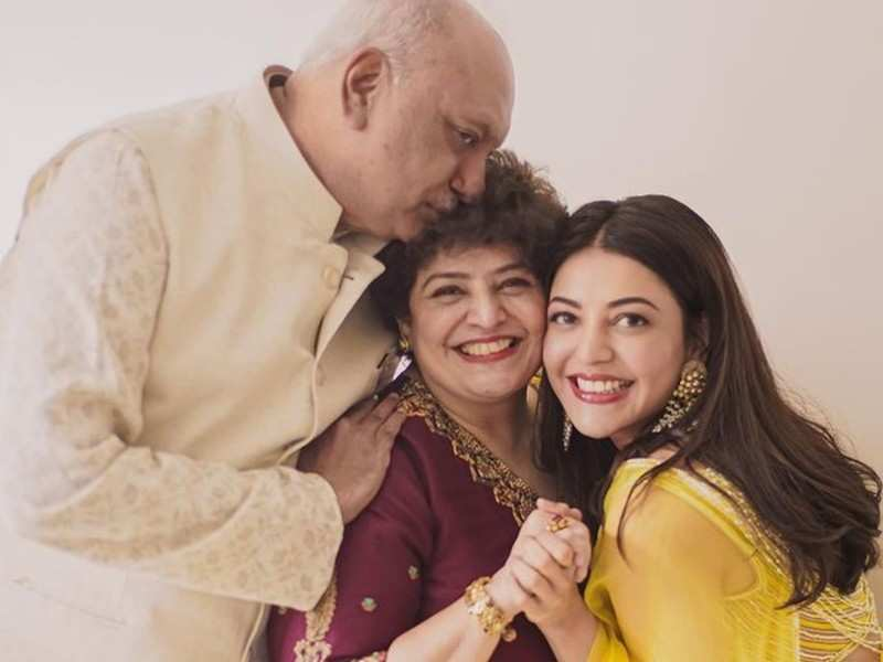 Kajal Aggarwal wishes her 'sunshine parents' on their wedding anniversary with an adorable note