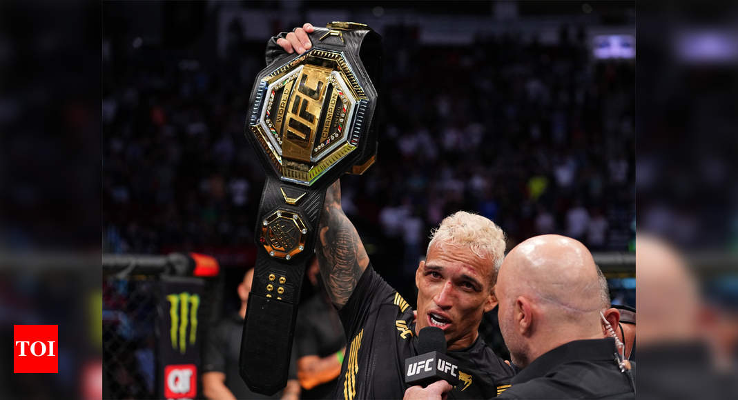 Mixed Martial Arts: Charles Oliveria KOs Michael Chandler to claim UFC lightweight crown | More sports News – Times of India