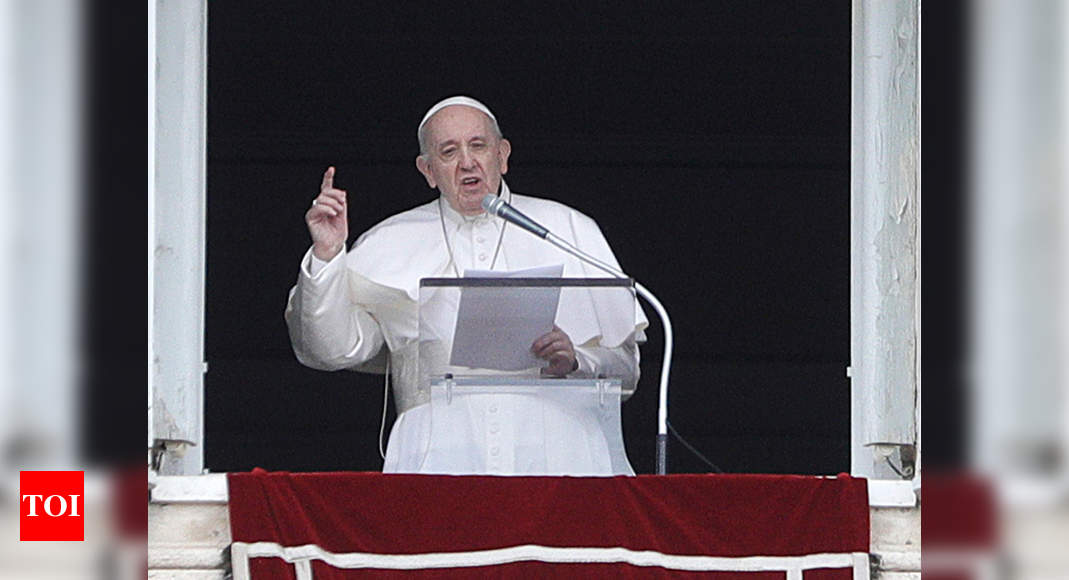 Pope denounces violence between Israel, Hamas – Times of India