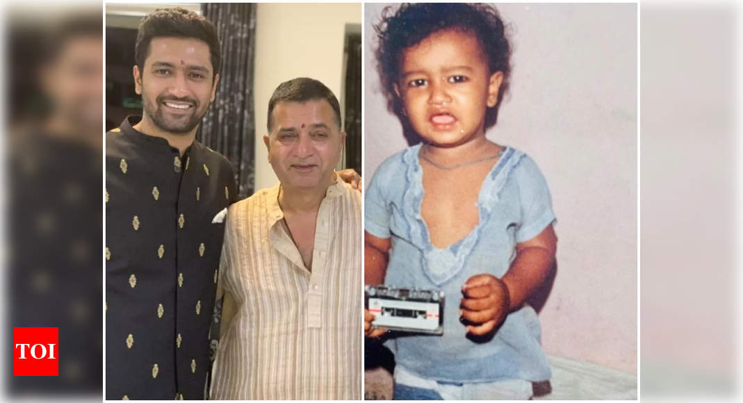 Vicky Kaushal's father Sham Kaushal has the sweetest birthday wish for his son – Times of India