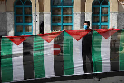 """India reiterates its support for the """"just Palestinian cause"""" 