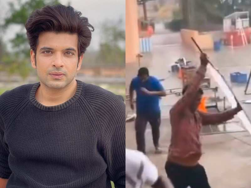 Cyclone Tauktae hits the sets of Yeh Rishta Kya Kehlata Hai in Silvassa; Karan Kundrra shares videos