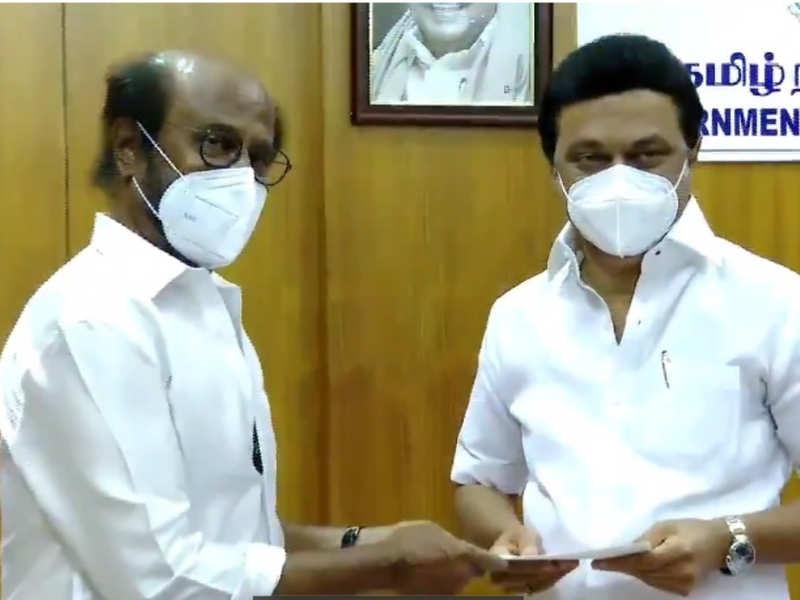 Rajinikanth contributes 50 lakhs to CM Public Relief fund