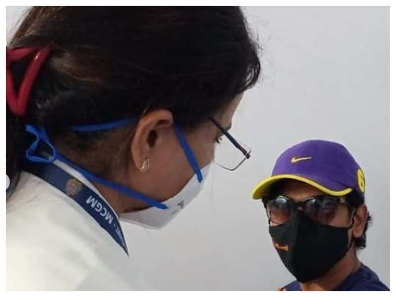 Siddharth Jadhav takes his first dose of the Covid-19 vaccine; see pic