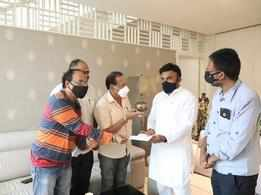 KFCC members request health minister K Sudhakar to provide COVID vaccination for film fraternity