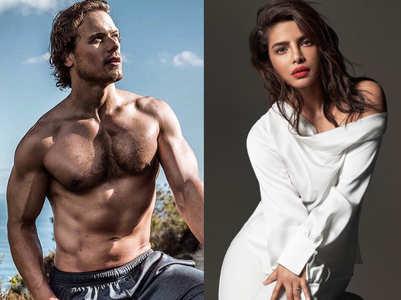Sam Heughan admits being in awe of Priyanka