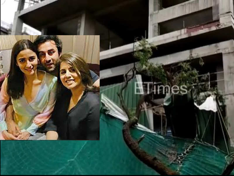 Ranbir Kapoor and Alia Bhatt's under-construction home in Bandra witnesses heavy disruption due to cyclone Tauktae - watch video