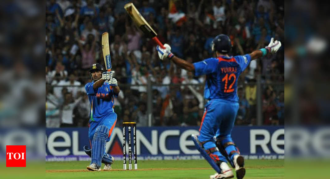 Love the shot of Dhoni's 2011 WC-winning six: Buttler