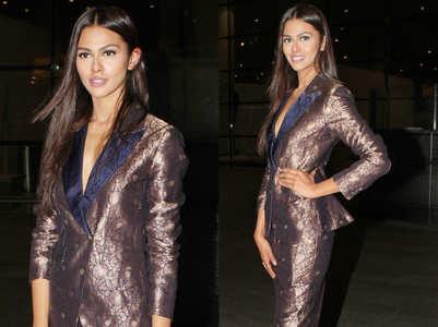 Adline Castelino looks elegant in brocade pantsuit