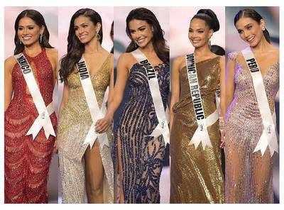 TOP 5: Mexico's Andrea Meza, India's Adline Castelino, Brazil's Julia Gama, Dominican Republic's Kimberly Rodriguez, Peru's Janick Maceta Del Castillo