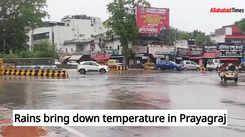 Rains bring down temperature in Prayagraj