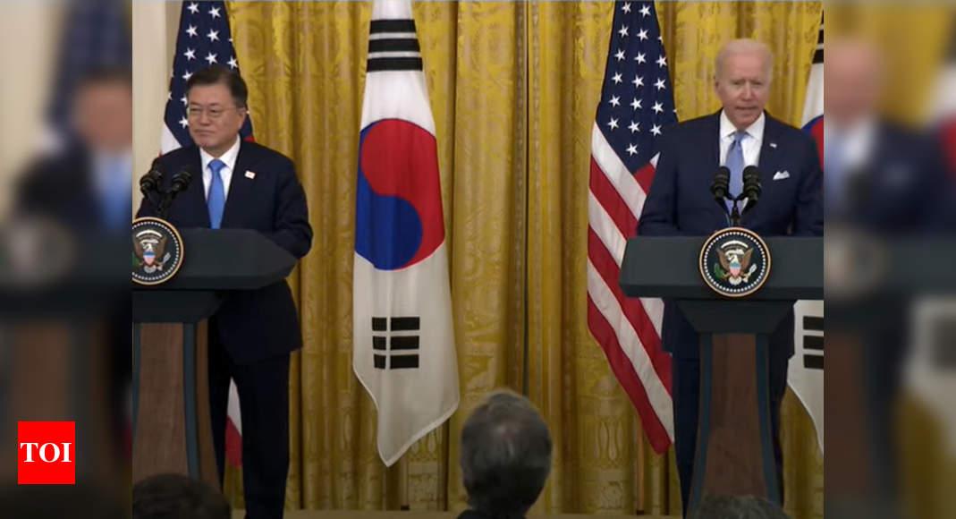 Joe Biden, South Korea's Moon Jae-in express willingness to engage North Korea – Times of India
