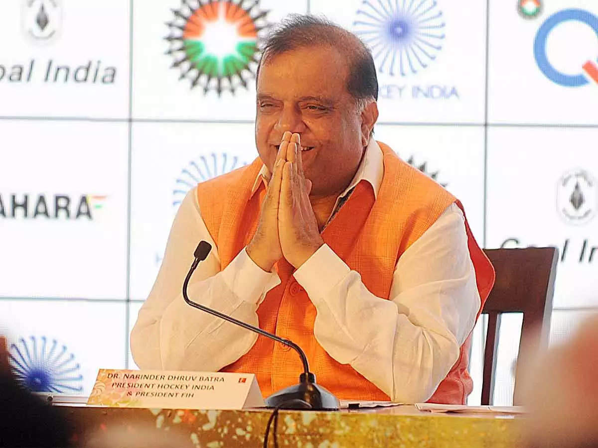 Narinder Batra Re-Elected As Fih President For A Second Term   Hockey News  - Times Of India