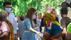 Alisha Abdullah talks about free food distribution initiative during the pandemic