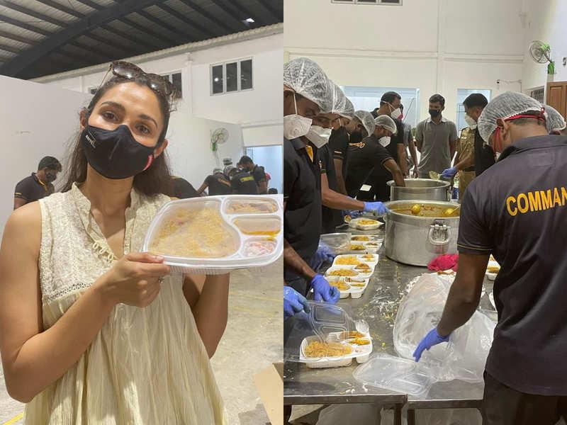 Andrea appreciates Guru Nanak Society and Commando Force of TN Police for this